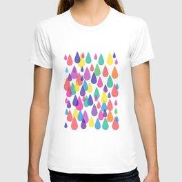 Rainbow Raindrops T-shirt