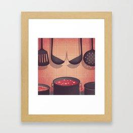Sexy Kitchen Framed Art Print