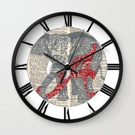 Roll Tide (Alabama Elephant) Wall Clock