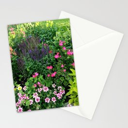 Flower Garden at the Park Stationery Cards