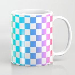 Rainbow Checkerboard Coffee Mug