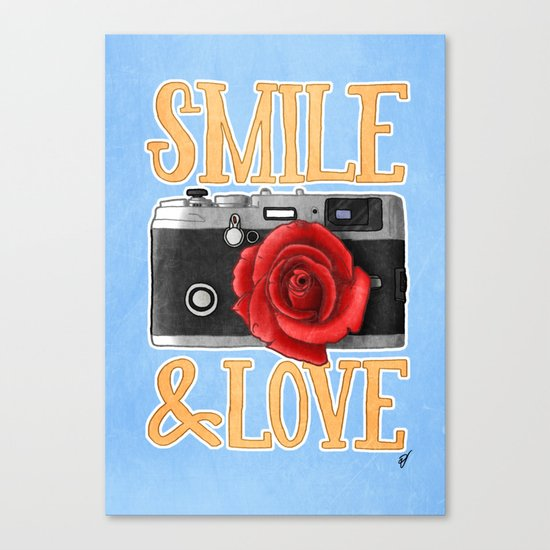 Smile and Love Canvas Print