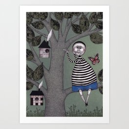 A Day for Sitting in a Tree Art Print