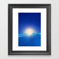 Ice Cold Blue Framed Art Print