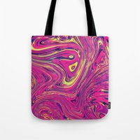 psychedelic Tote Bags featuring Psychedelic by Idle Amusement