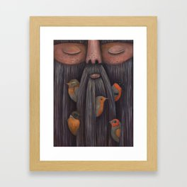 Rip Van Winkle with Birds Framed Art Print