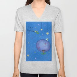 Fly Away Little Prince Unisex V-Neck