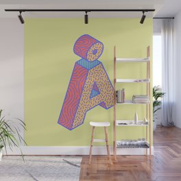 Typography series #Å Wall Mural
