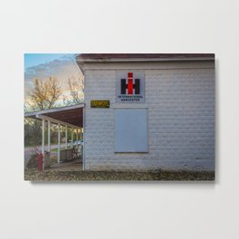 International Harvester Building, Almont, North Dakota Metal Print