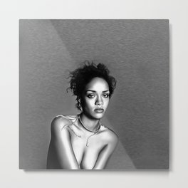 Rihanna - Celebrity Art (Sexy Eyes) Metal Print