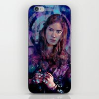 amy pond iPhone & iPod Skins featuring Amy Pond by Sirenphotos