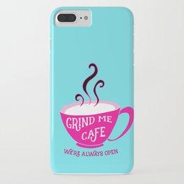 Grind Me Cafe - Blue iPhone Case