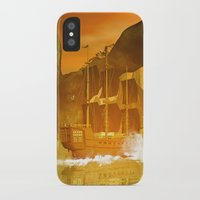 pirate ship iPhone & iPod Cases featuring Pirate ship  by nicky2342