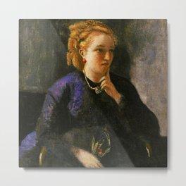 "Jean-Baptiste-Camille Corot ""Portrait of a Woman"" Metal Print"