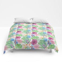 Malia's Tropical Print Comforters