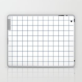 Chek - check grid simple minimal black and white modern urban brooklyn nashville hipster gifts Laptop & iPad Skin
