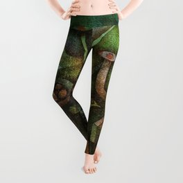 Classical Masterpiece 'Carnival in the Mountains' by Paul Klee Leggings