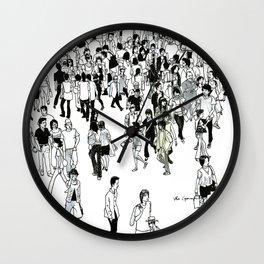 Shibuya Street Crossing Crowd Wall Clock