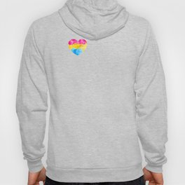 Pansexual Heart print LGBTQ Pride Gift Idea Hoody