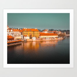 Beautiful Prague cityscape Art Print