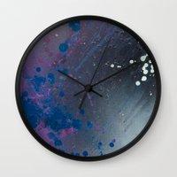 depression Wall Clocks featuring Depression Rains by Shy Neon