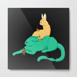 2 Cat Monsters Metal Print