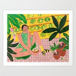 She who loves summer Art Print