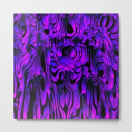 Colorful smudges of magical infinity from violet lines and dark hypnotic fixation. Metal Print