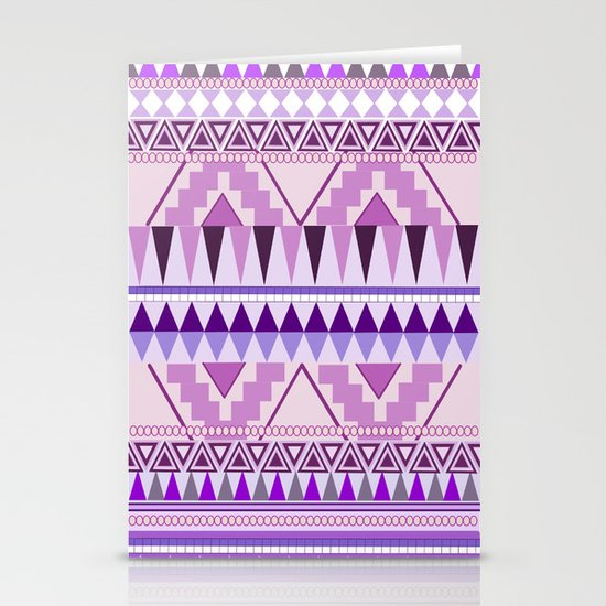 Aztec; Purple Dreams Stationery Cards