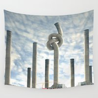 industrial Wall Tapestries featuring Industrial Brezel by CrismanArt