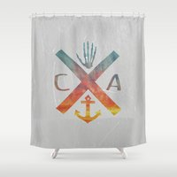 california Shower Curtains featuring California by Last Call