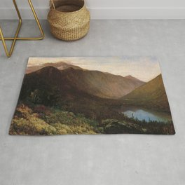 Mount Lafayette Franconia Notch New Hampshire 1870 By Thomas Hill | Reproduction Rug
