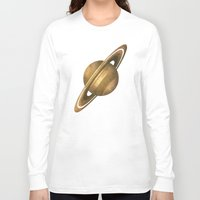 saturn Long Sleeve T-shirts featuring Saturn by Terry Fan