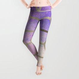 Pixie dust geometric watercolor Leggings