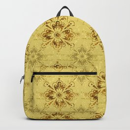 Gold on Gold Ornament Pattern Backpack