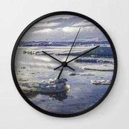 Glacial Lagoon 07 Wall Clock