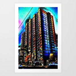Neon Tower, Fitzroy Art Print