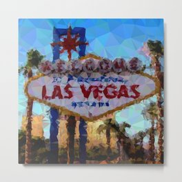 Geometric Las Vegas Sign Metal Print