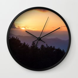 Last rays of light Wall Clock