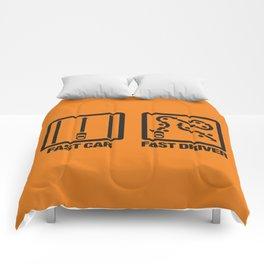 Fast Car - Fast Driver v2 HQvector Comforters