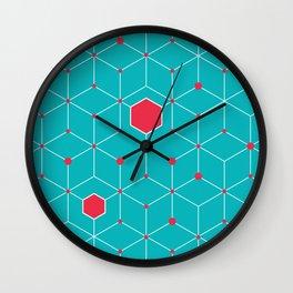 Griddy pattern Wall Clock