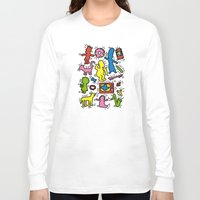 keith haring Long Sleeve T-shirts featuring Haring - Simpsons by Krikoui
