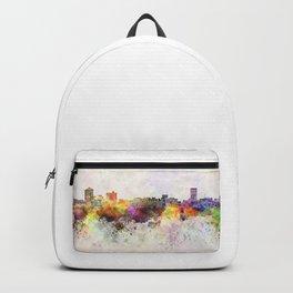 Birmingham AL skyline in watercolor background Backpack