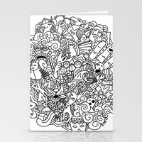 doodle Stationery Cards featuring Doodle  by Vibe-Art