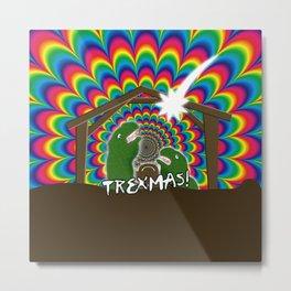 Merr-roary T-ReXmas! Metal Print