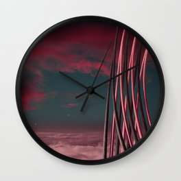 Morning at Planet One Wall Clock