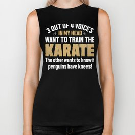 Karate Fighter Voices In My Head  Biker Tank