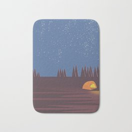 Camping under the Stars Bath Mat