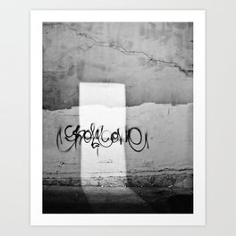 Graffiti doorway Art Print