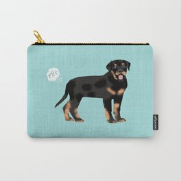 rottweiler funny farting dog breed pure breed pet gifts Carry-All Pouch